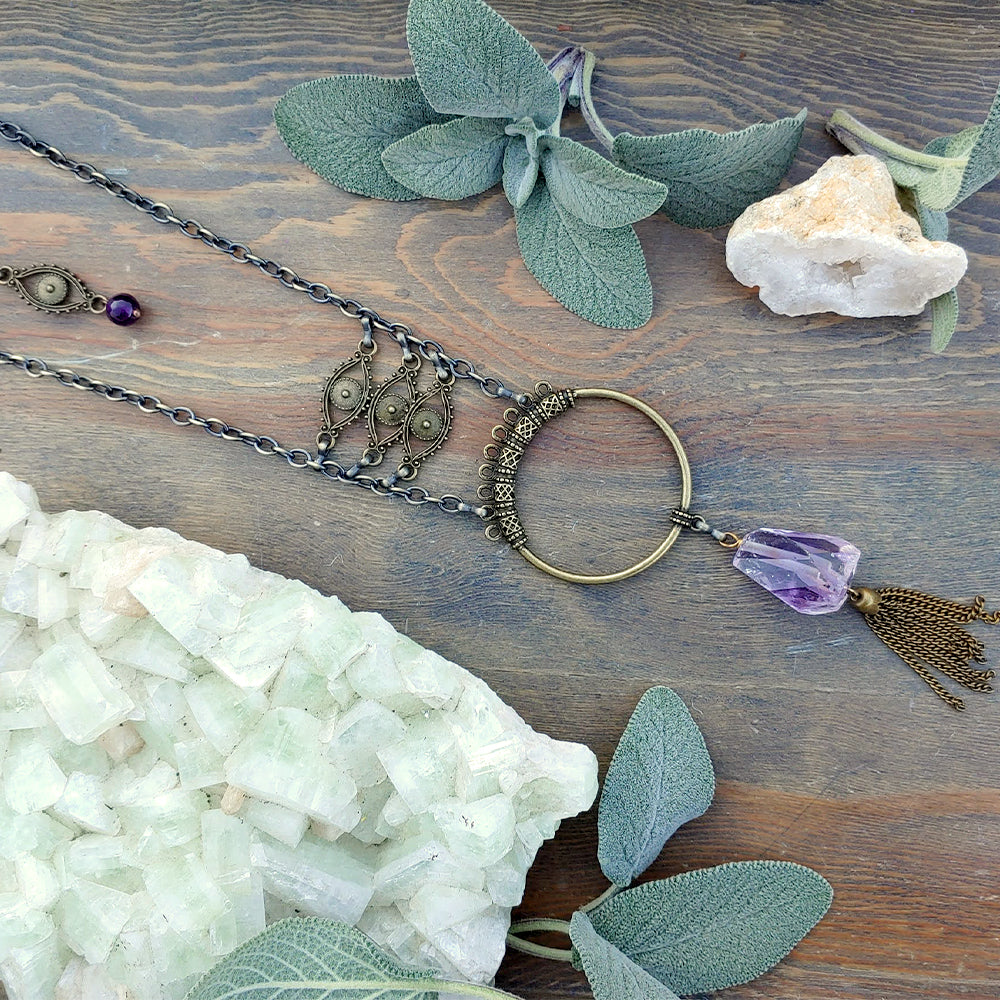 Eyes on Amethyst Necklace