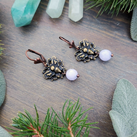 Transformation Lavender Amethyst Earrings