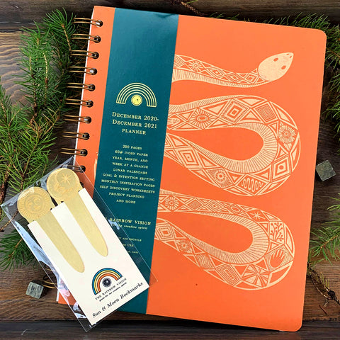 Citrus & Gold Serpent 2021 Planner Set