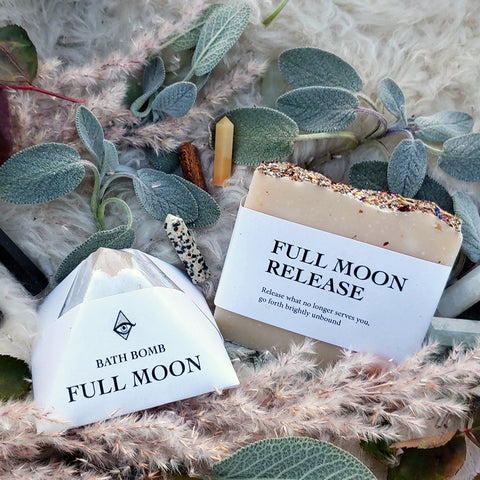 Full Moon & Crystal Bath Set