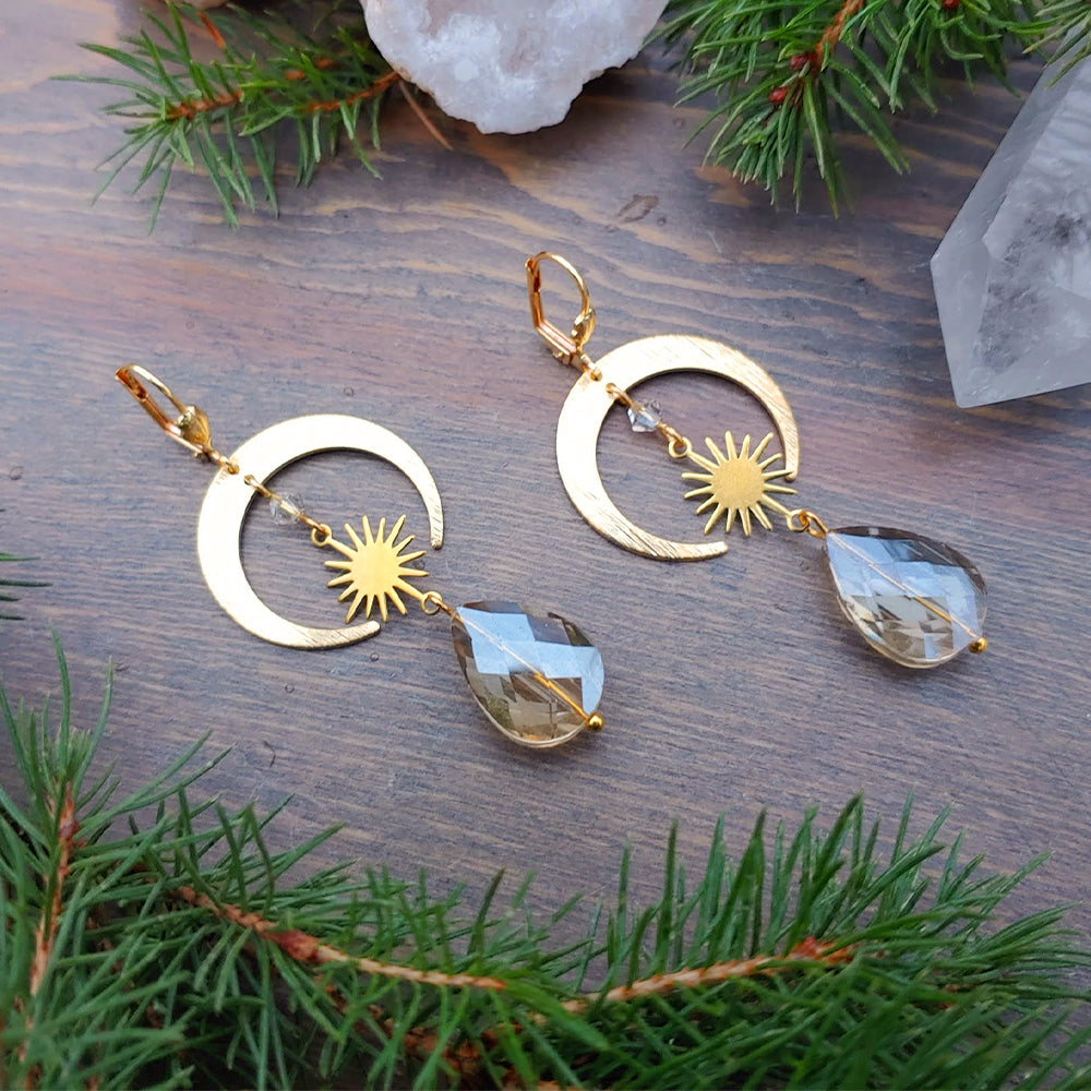 Frosted Gold Starseed Earrings
