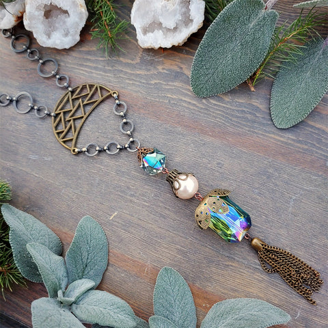 Prism Within Mermaid Flapper Necklace