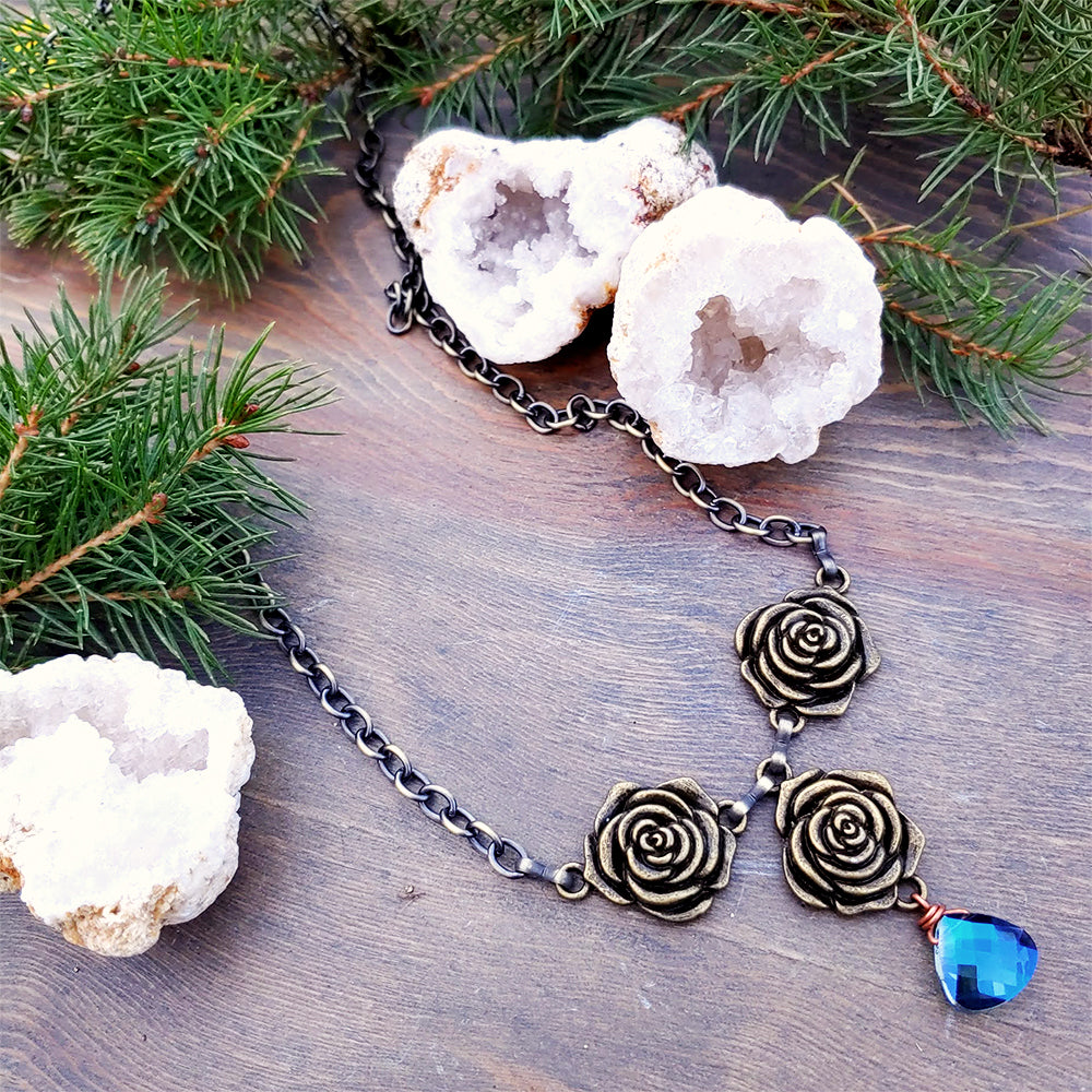 Roses & Rain Collarbone Necklace