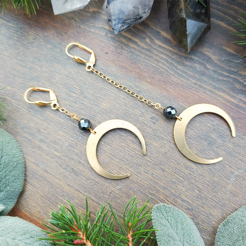 Dark of Night Hematite Earrings