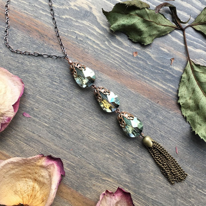 Frosted Eucalyptus Necklace