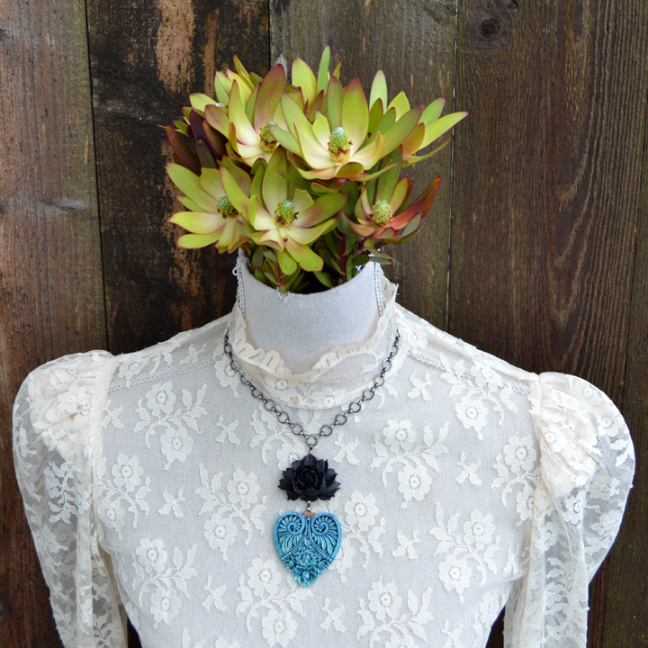 Ocean Storm Untamed Heart Necklace