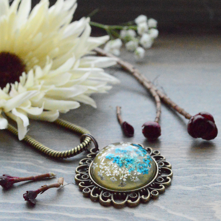 Flower the Globe in Blue Compass Medallion