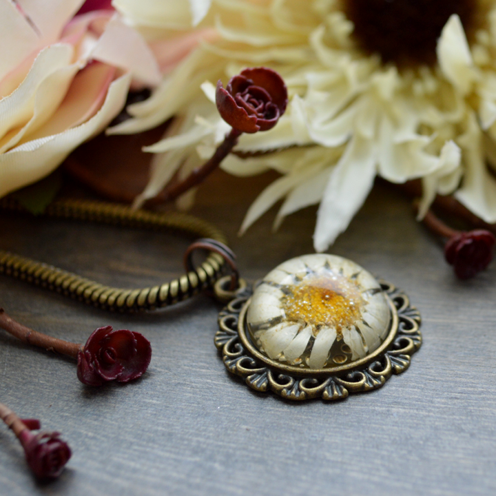 Flower the Globe in Daisies Compass Medallion