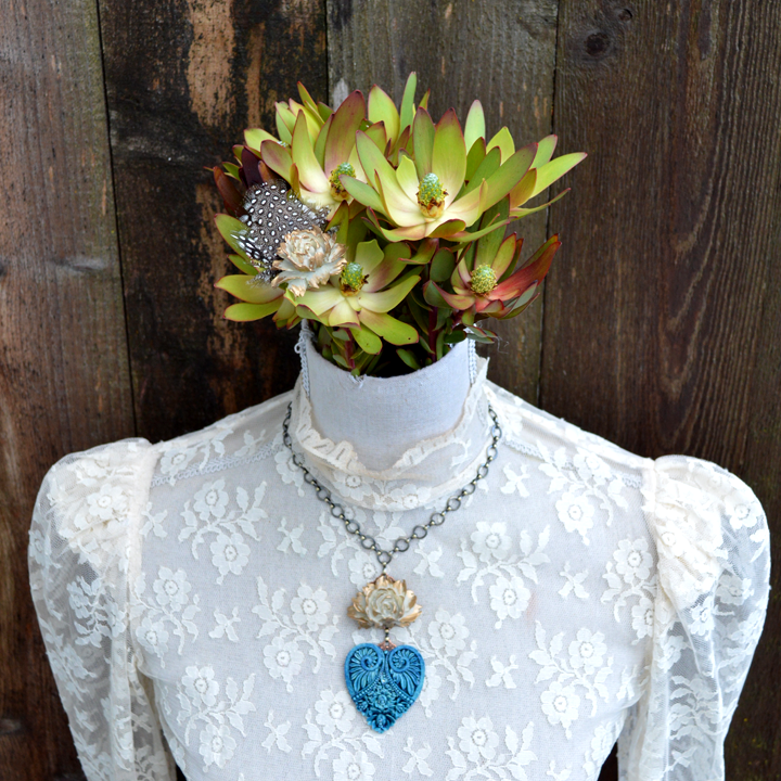 Ocean Dust Untamed Heart Necklace