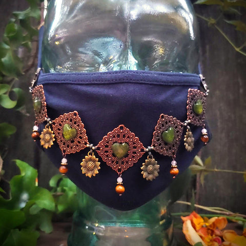 Sunflower Tamer Face Mask Jewelry