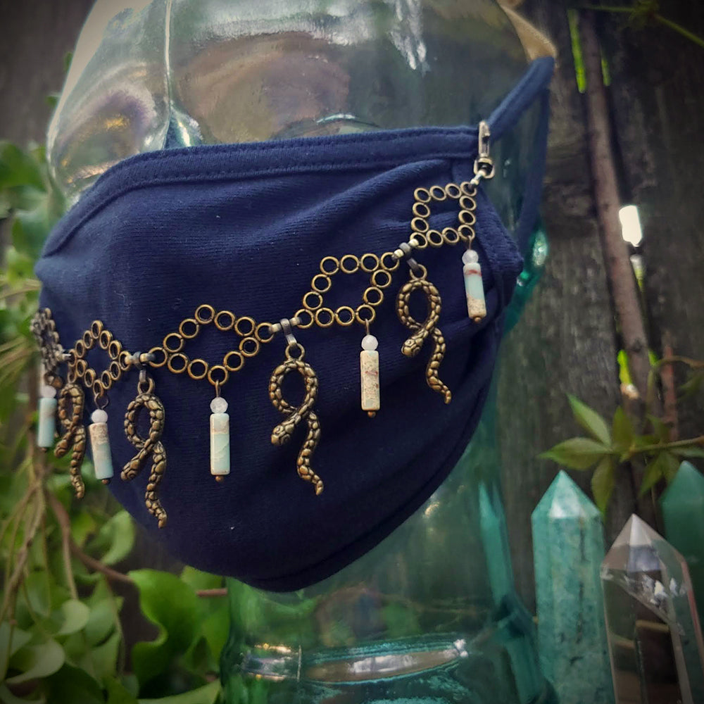 Snake Charmer Face Mask Chain