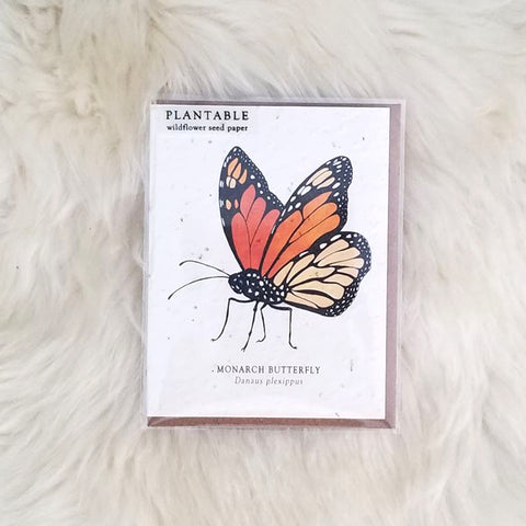 Monarch Plantable Wildflower Greeting Card