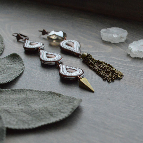 Bronze Set & Spike Earrings