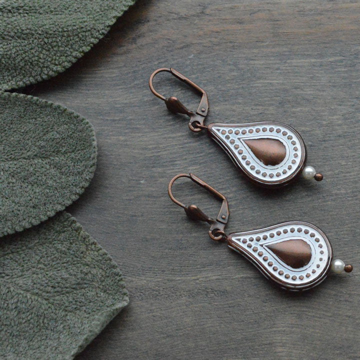 Bronze Drop Earrings
