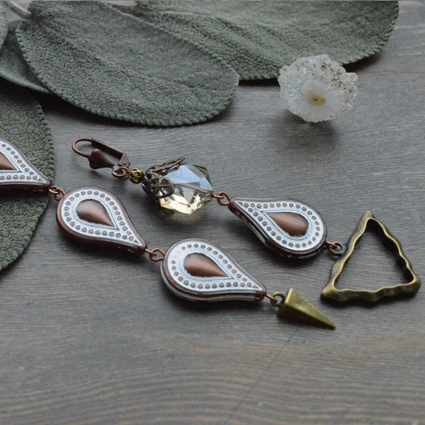 Bronze Drop & Arrow Earrings