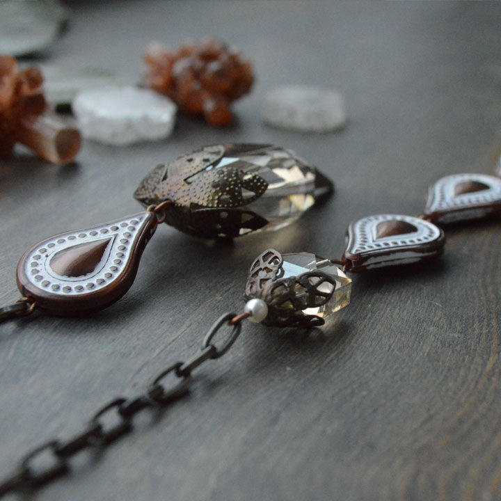 Bronze Drops & Spike Lariat