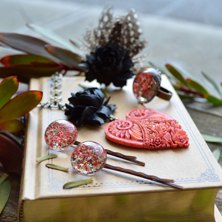 Strawberry Licorice Untamed Heart Necklace