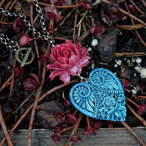 Ocean Sunsets Untamed Heart Necklace
