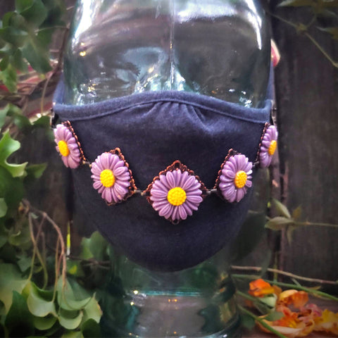 Your Aura is Daisies Face Mask Jewelry