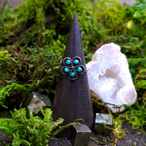 Daisy Dreamer Turquoise Ring