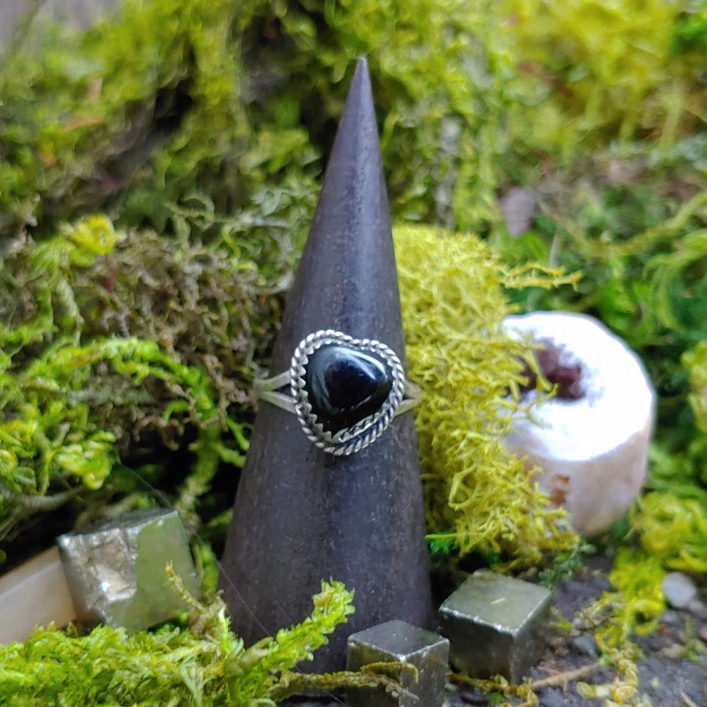Virtuous Heart Onyx Ring