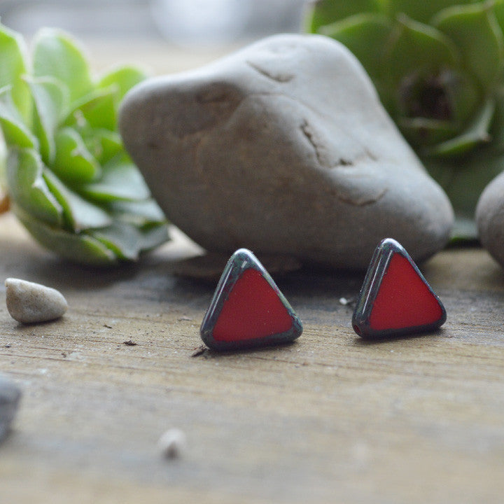 Untamed Heart Chevron Studs