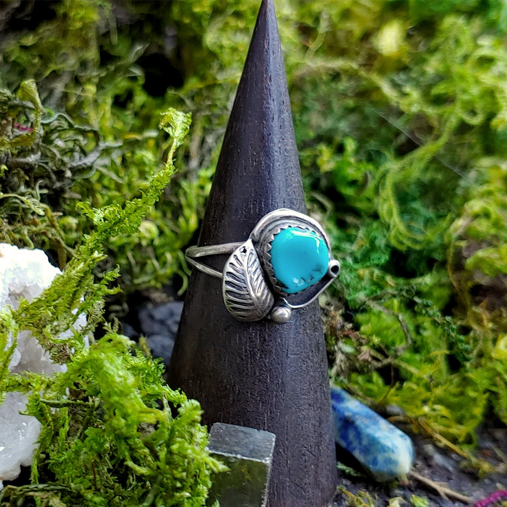 Delicate Balance Turquoise Ring