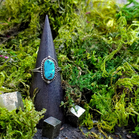Earth to the Moon Turquoise Ring