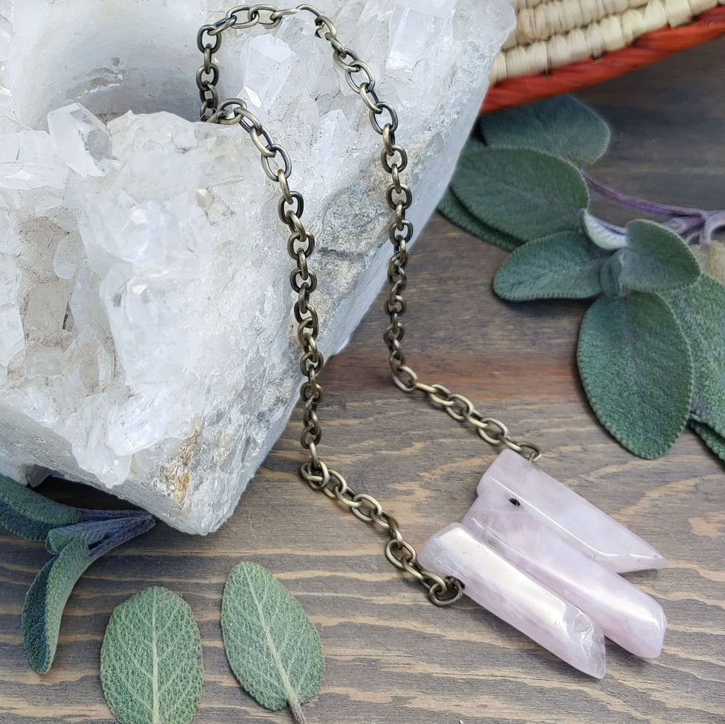 Rose Quartz Collarbone Necklace