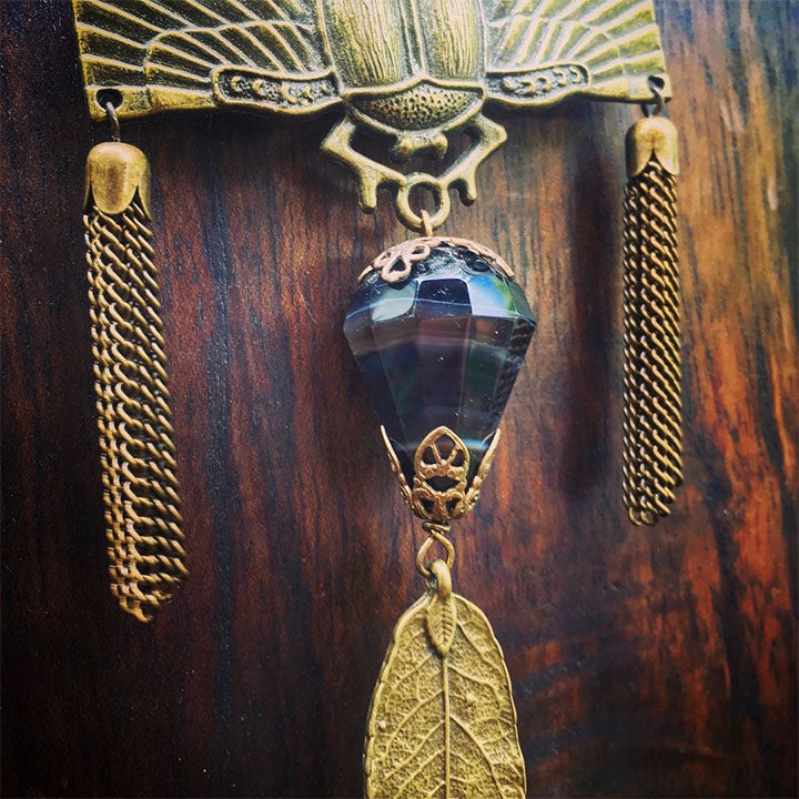 Heiress Cicada + Sardonyx Statement Necklace