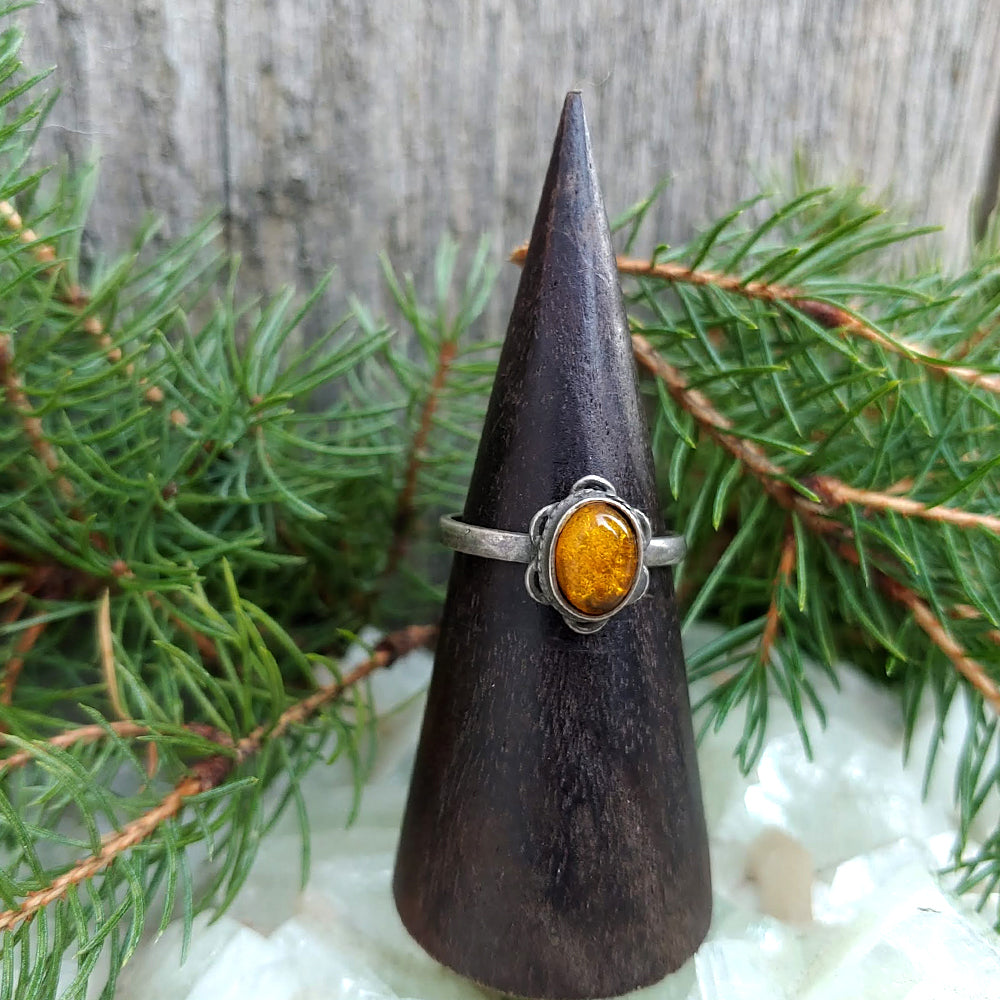 Eb & Flow Vintage Amber Ring