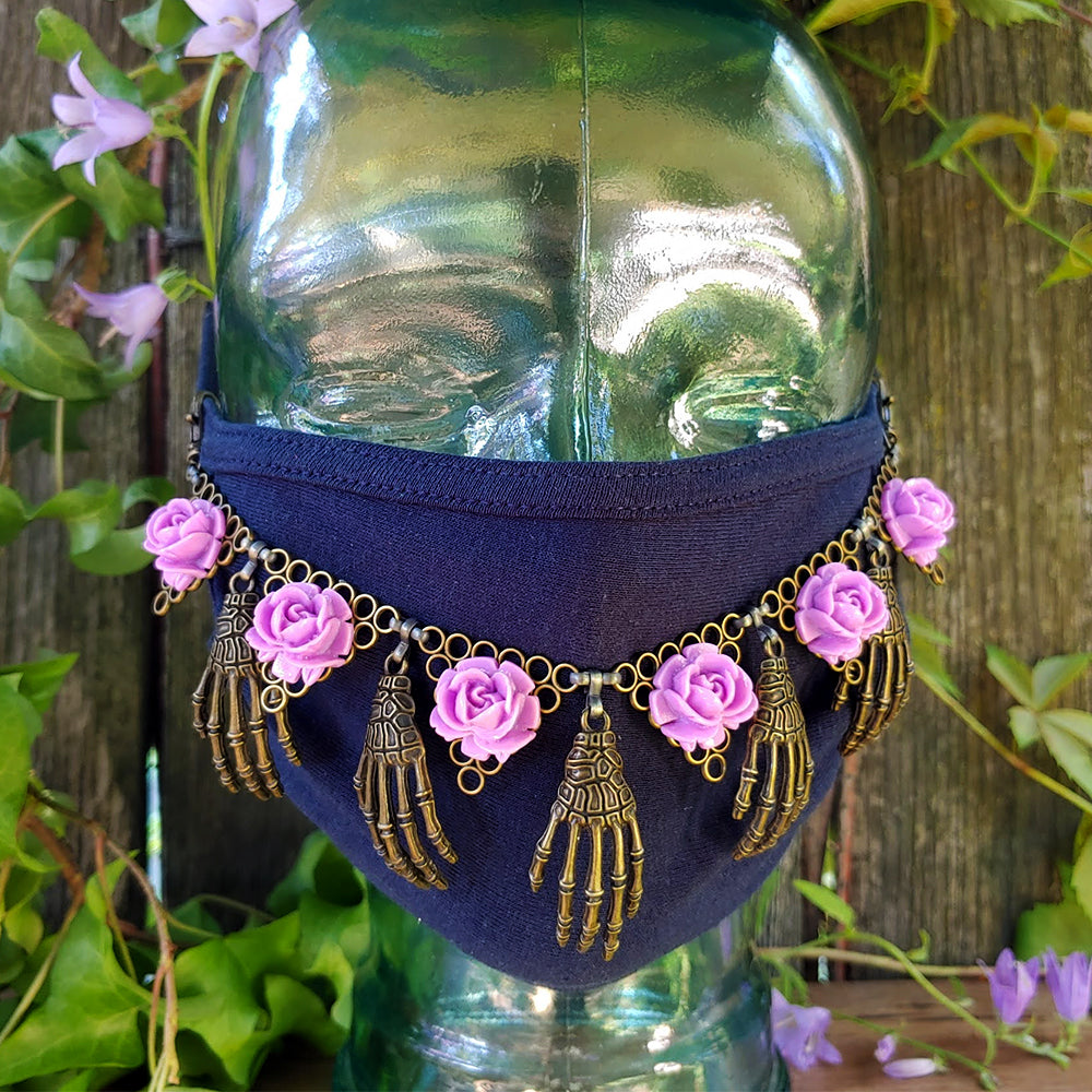 Un-Shrinking Violet Face Mask Jewelry