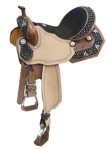 Barrel Racer Concho Barrel Style Saddle - SK Tack & Supply