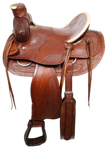 White Rawhide Wade Bear Trap Ranch Saddle - SK Tack & Supply