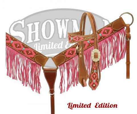 Pink Navajo Diamond Headstall & Breast Collar Set *Limited Edition* - SK Tack & Supply