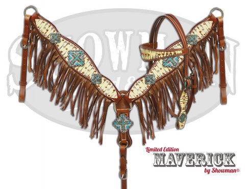 Maverick Suede Fringe Headstall & Breast Collar Set *Limited Edition* - SK Tack & Supply