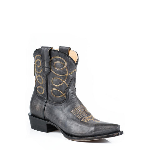 Stetson Abby Snip Toe Boot Black - SK Tack & Supply