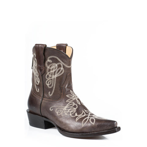 Stetson Adelle Snip Toe Boot Brown - SK Tack & Supply