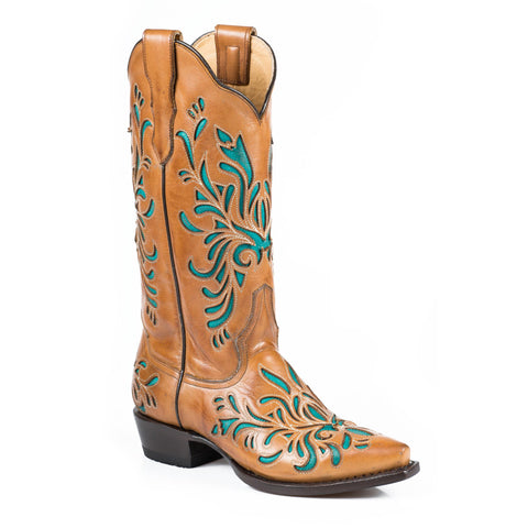 Stetson Amber Snip Toe Boot Orange - SK Tack & Supply