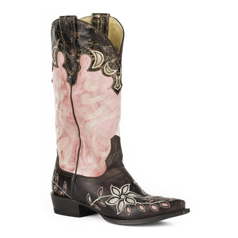 Stetson April Snip Toe Boot Pink - SK Tack & Supply