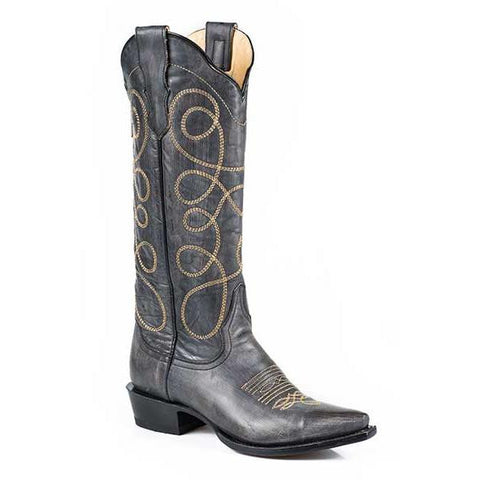 Stetson Abigail Snip Toe Boot Black - SK Tack & Supply