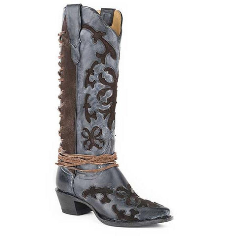 Stetson Ande Snip Toe Boot Black - SK Tack & Supply
