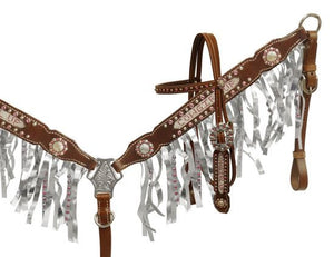 Cowgirl Up Headstall & Breast Collar Set - SK Tack & Supply