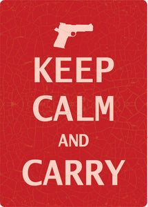 Keep Calm and Carry Sign - SK Tack & Supply