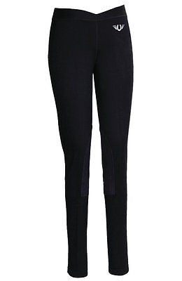 TuffRider® Ladies Low Rise Ventilated Horseback Riding Schooling Tights/Breeches - SK Tack & Supply - 1