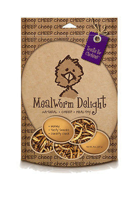 Cheep Mealworm Delight All Natural Chicken Treats Non-GMO No Preservatives 8 oz - SK Tack & Supply