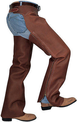 Weaver Shotgun Full Grain Leather Work Chaps - Oil Tanned, Full Length Zipper - SK Tack & Supply - 1