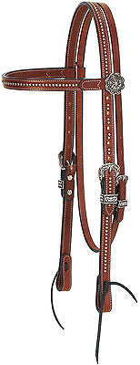 "Weaver Leather Austin Tack Collection 5/8"" Browband Headstall - SK Tack & Supply - 1"