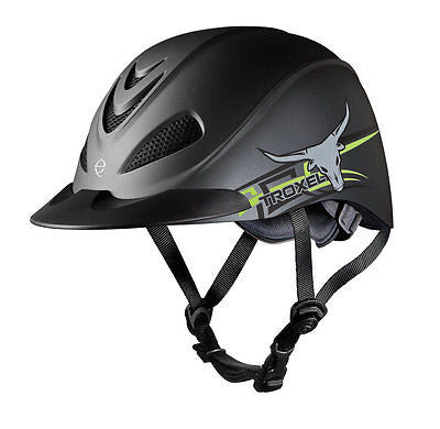 Troxel Rebel Low Profile Western Riding Helmet - Boy's/Men's Rodeo Bull Design - SK Tack & Supply - 1