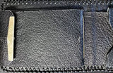 Handmade & Tooled Genuine Leather Wallet - Crafted in WV, Vintage Look, Bi-Fold - SK Tack & Supply - 7